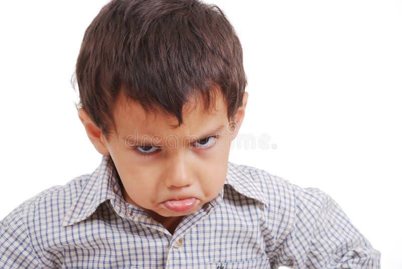 Gran expresión del cabrito muy muy enojado fotos de archivo libres de regalías