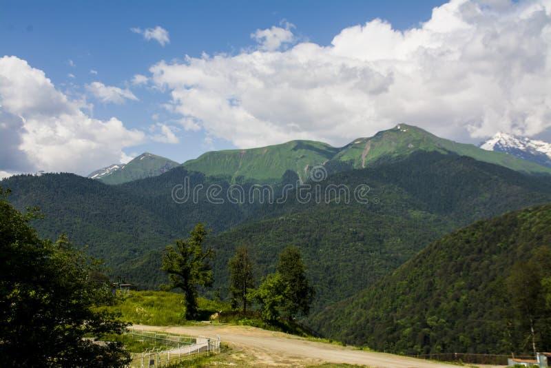 Gran fondo de las montañas foto de archivo libre de regalías