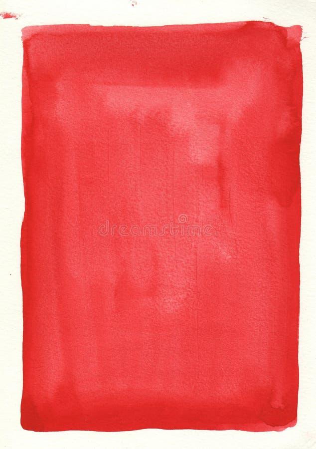 Gran fondo rojo de la acuarela imágenes de archivo libres de regalías
