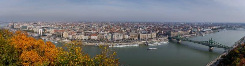 Gran fotografía panorámica de Budapest fotos de archivo