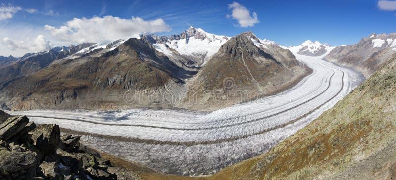 Gran glaciar de Aletsch, Suiza imagen de archivo