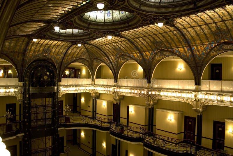 Gran Hotel Ciudad de Mexico. Historic roof in Gran Hotel Ciudad de Mexico, it was brought from Lafayet Galleries in Paris royalty free stock image