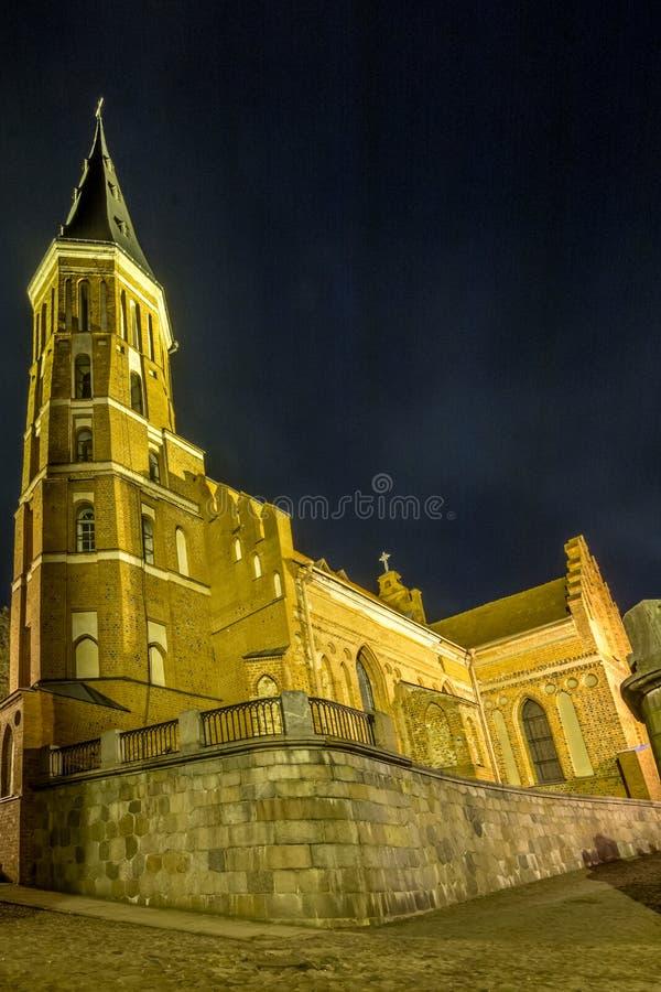 Gran iglesia de Kaunas Vytautas imagenes de archivo