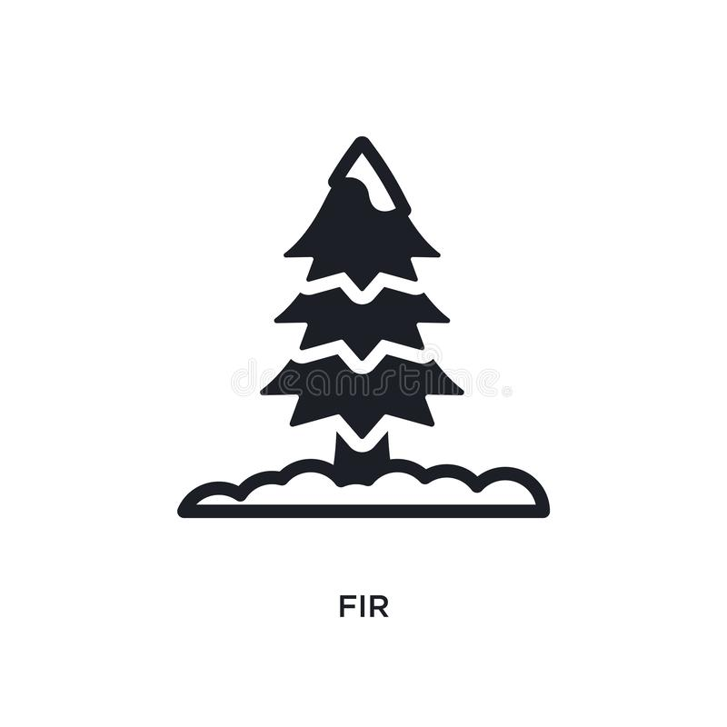 gran isolerad symbol enkel beståndsdelillustration från vinterbegreppssymboler för logotecken för gran redigerbar design för symb vektor illustrationer