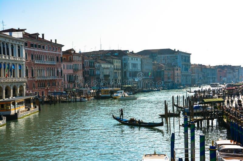 Gran kanal Venedig (Venezia) royaltyfri foto