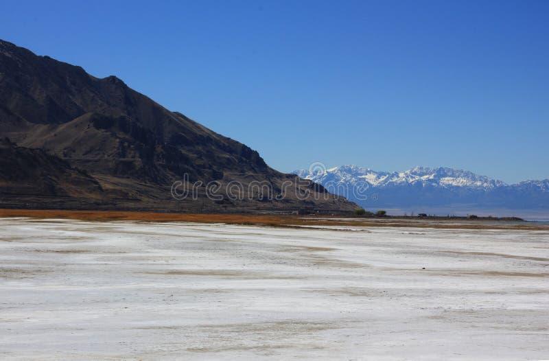 Gran Lago Salato nell'Utah fotografie stock libere da diritti
