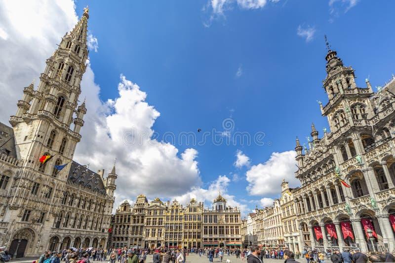 Gran lugar de Bruselas imagen de archivo libre de regalías