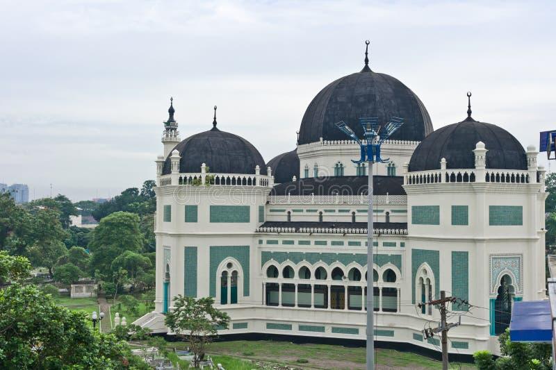 Gran mezquita en Medan fotos de archivo libres de regalías
