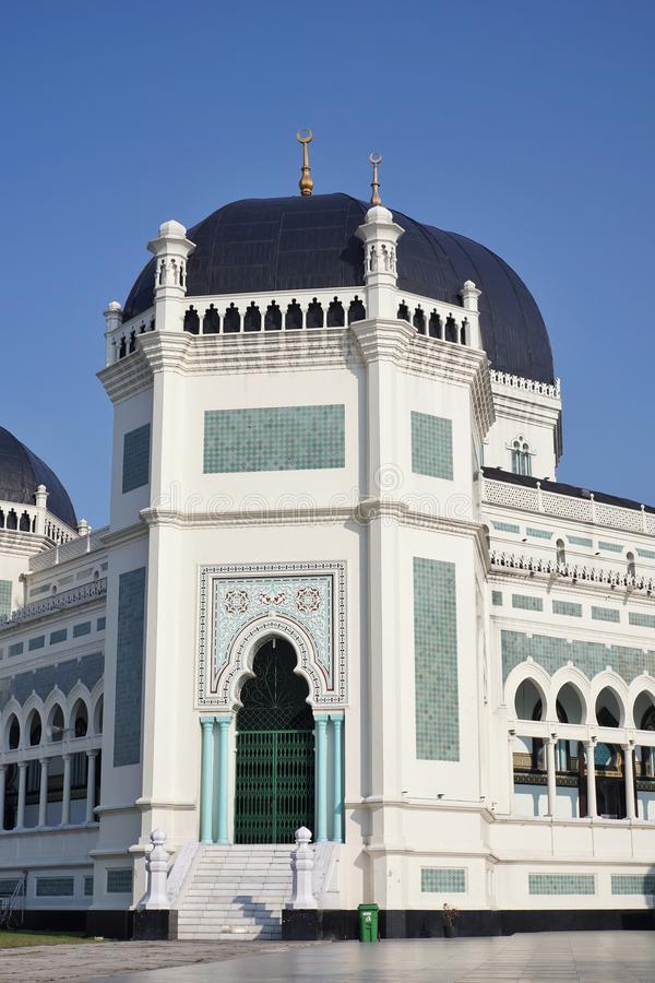 Gran mezquita Medan imagen de archivo libre de regalías
