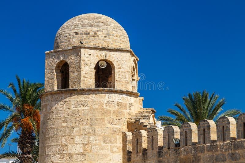 Gran mezquita medieval en Medina viejo de Sousse fotos de archivo libres de regalías