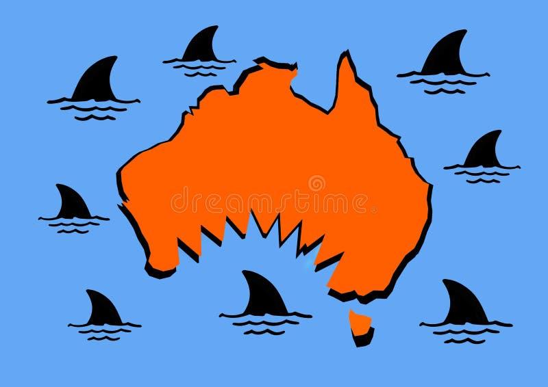 Gran mordedura australiana ilustración del vector