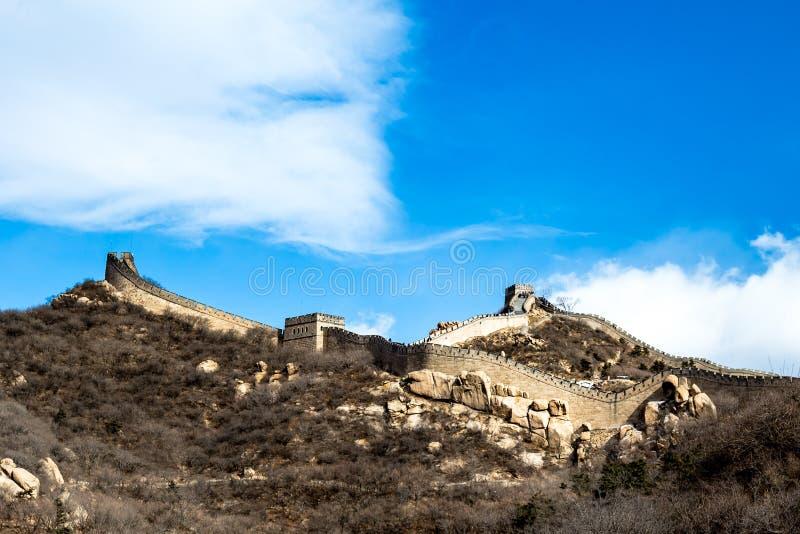 Gran Muralla de Badaling, China fotografía de archivo libre de regalías