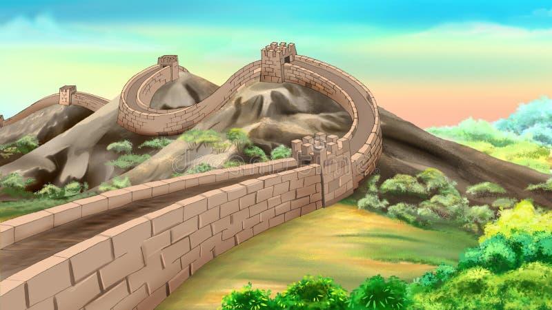Gran Muralla de China ilustración del vector