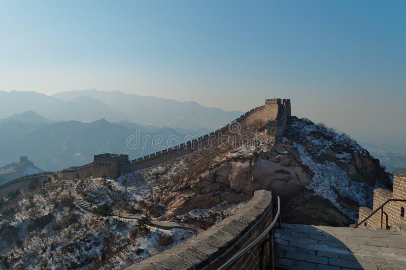 Gran Muralla de China en invierno imagenes de archivo
