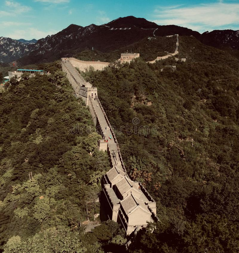 Gran Muralla de China en verano imágenes de archivo libres de regalías