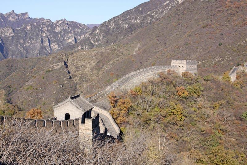 Gran Muralla de China Mutianyu imágenes de archivo libres de regalías