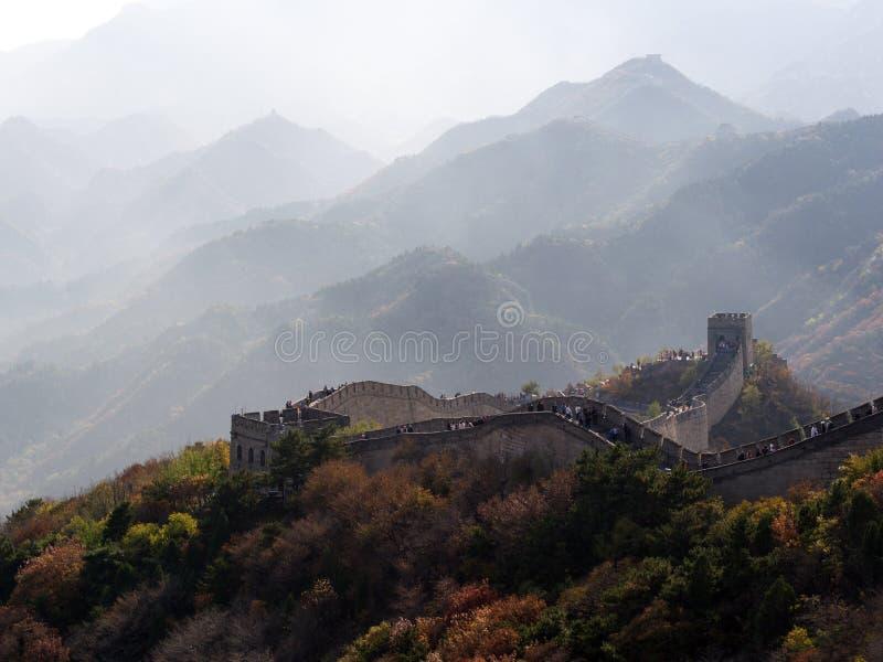 Gran Muralla de China Viaje en la ciudad de Pekín, China 23 de octubre, 2 imagen de archivo libre de regalías