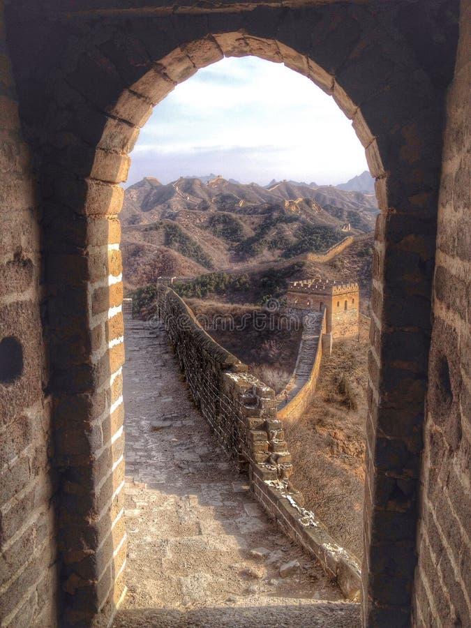 Gran Muralla del bastidor de la atalaya de China imagen de archivo