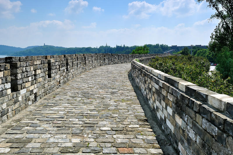 Gran Muralla ming de Nanjing imagen de archivo libre de regalías