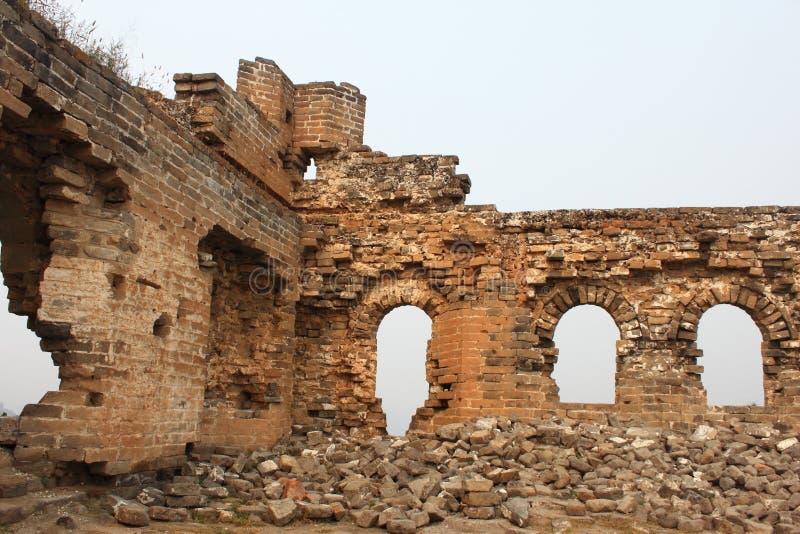 Gran Muralla salvaje foto de archivo