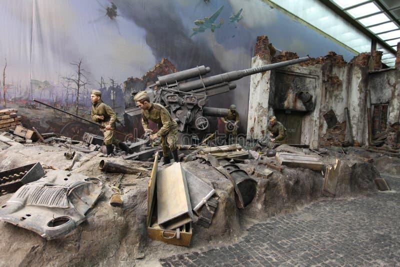 Gran museo patriótico de la guerra en la colina Victory Park, Moscú, Rusia del arco imagen de archivo