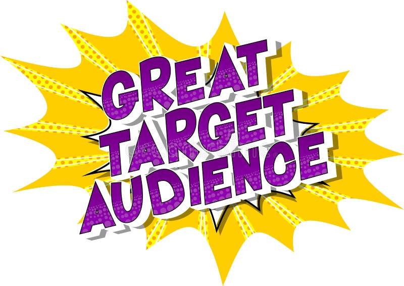 Gran público objetivo - palabra del estilo del cómic ilustración del vector