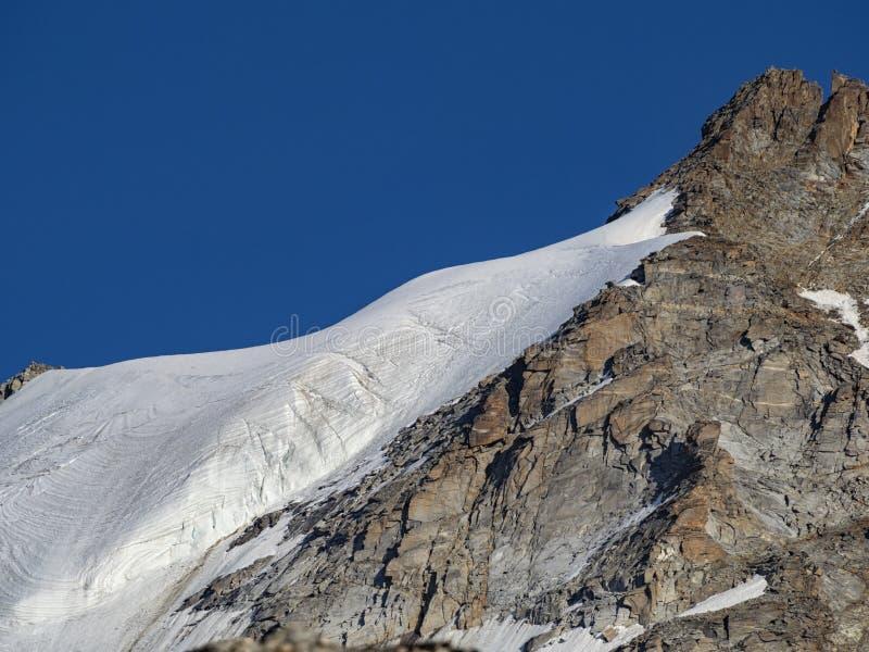 Gran Paradiso冰川 库存图片