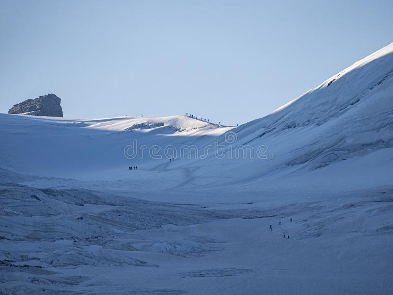 Gran Paradiso冰川 免版税库存图片
