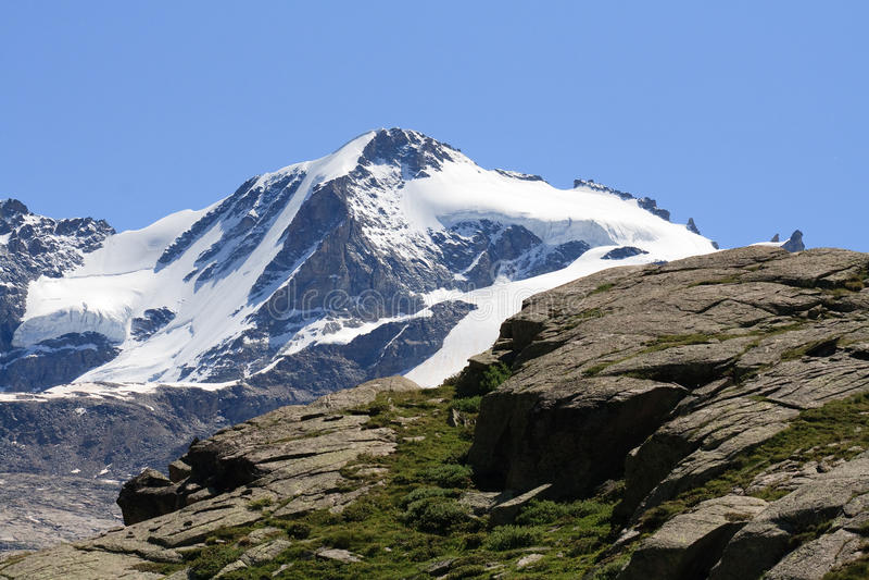 Gran Paradiso. (mt 4061)photographed by plain Nivolet in Valsavaranche (Valle d'Aosta stock photo