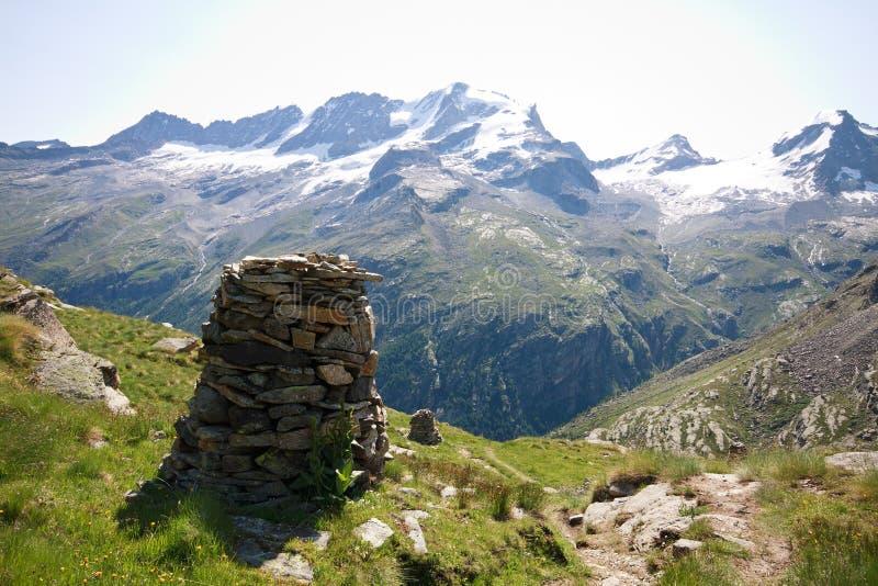 Gran Paradiso. Valsavaranche (Aosta valley). In the background the Gran Paradiso royalty free stock photos