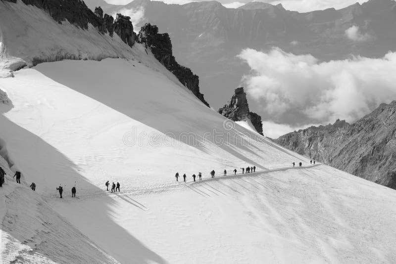 Gran Paradiso bergklättring arkivbild