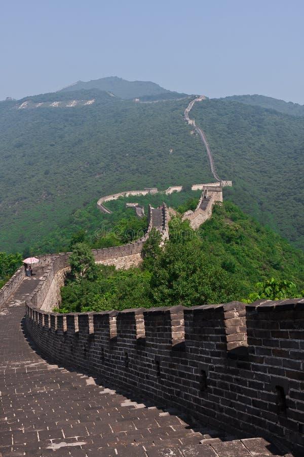 Gran pared china fotografía de archivo