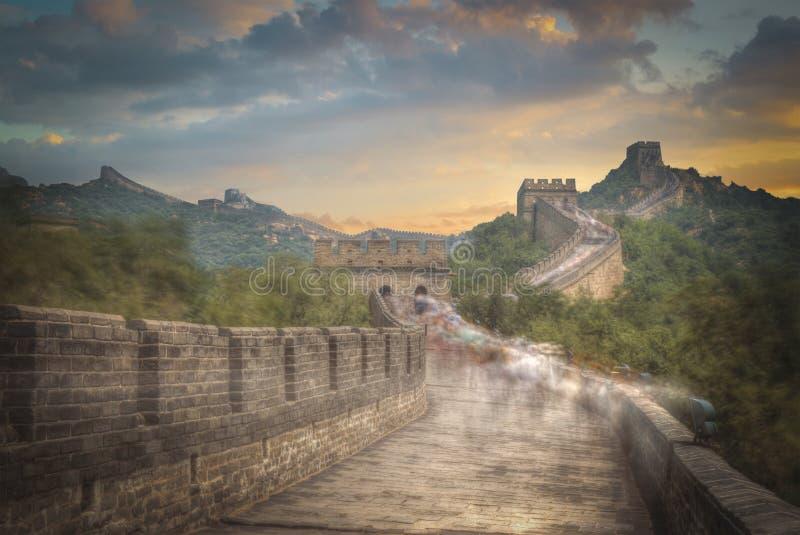 Gran pared china imagenes de archivo