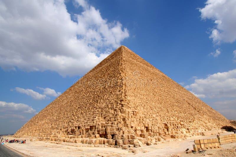 Gran pirámide egipcia foto de archivo