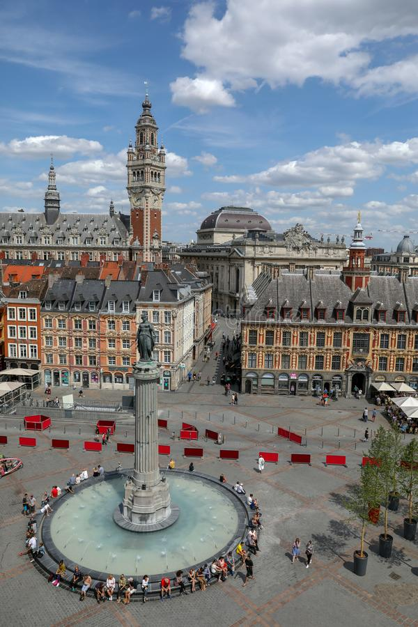 GRAN PLACE of Lille royalty free stock photos