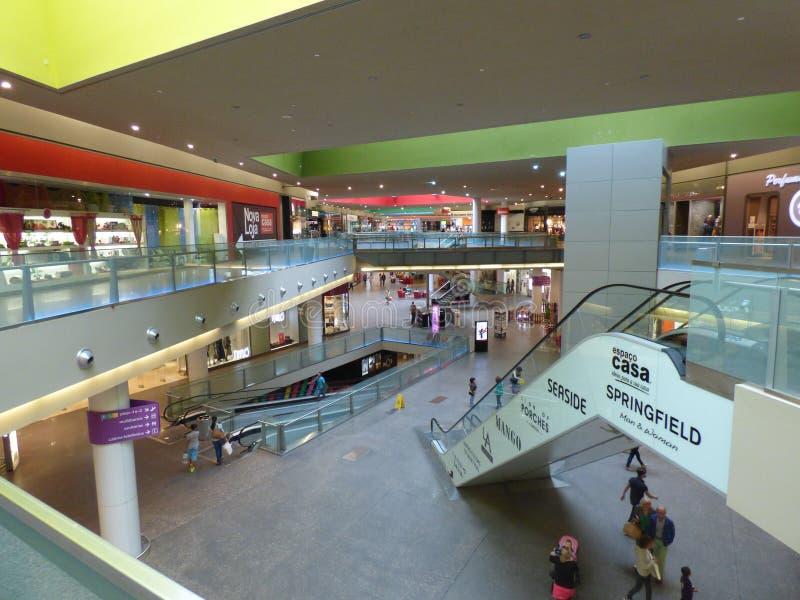 Gran plaza Shopping mall Tavira. Interior of two level shopping mall from upper level stock photo
