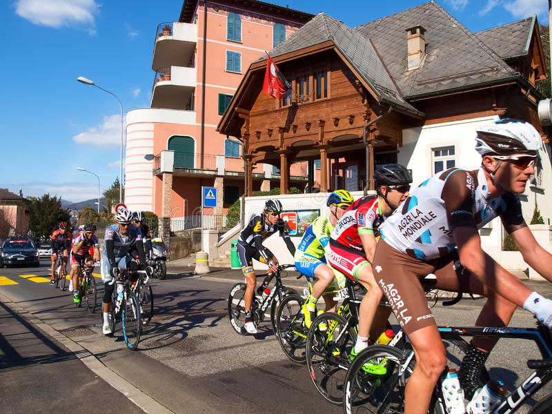 Gran Premio della corsa di riciclaggio di Lugano nel 2015 immagine stock libera da diritti