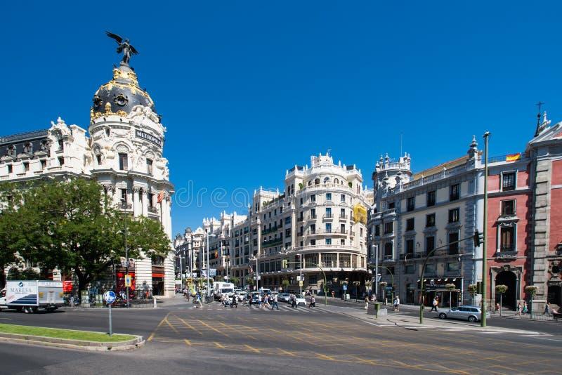 Gran Przez Madryt w zdjęcie stock