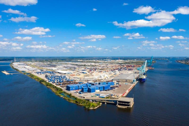 Gran puerto de navegación en Jacksonville Florida imagen de archivo libre de regalías