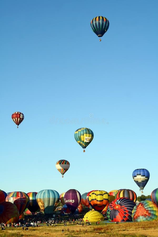 Gran raza del globo de Reno foto de archivo libre de regalías