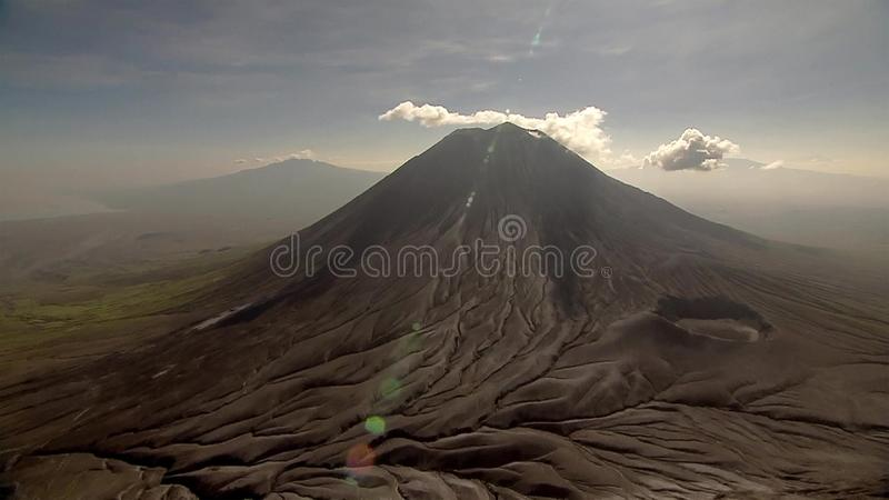 Gran Rift Valley donde el continente está rasgando el itelf aparte y está siendo renacido imágenes de archivo libres de regalías