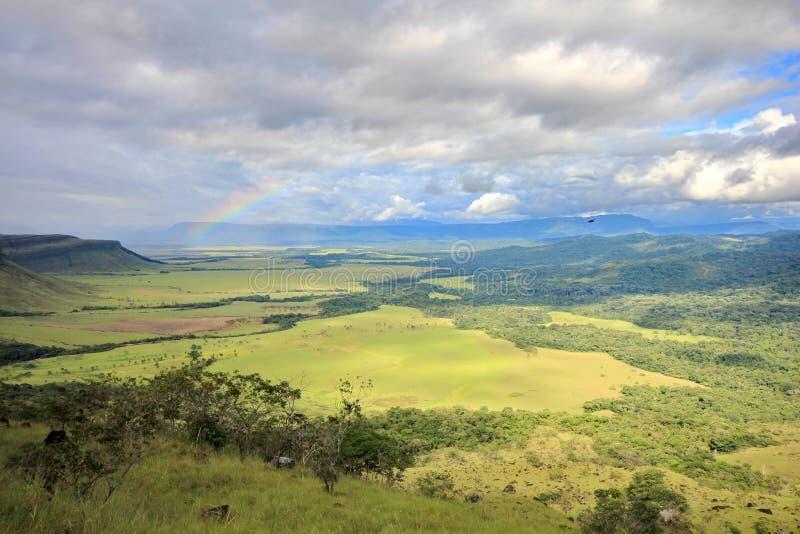 Gran Sabana visto das inclinações do tepui, Venezuela imagens de stock royalty free
