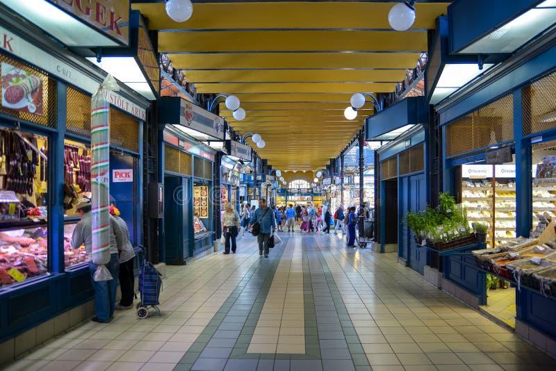 Gran Salón del Mercado de Budapest, Hungría fotos de archivo libres de regalías