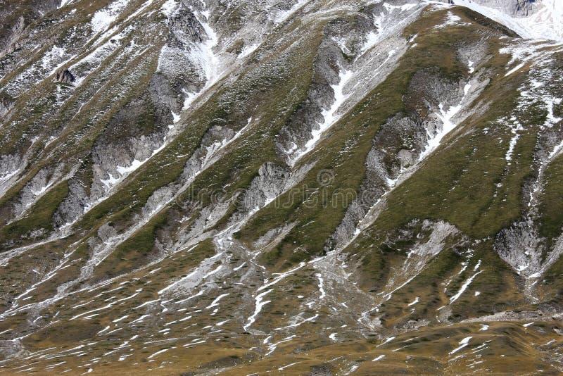 Gran Sasso山在意大利的亚平宁山脉 库存照片