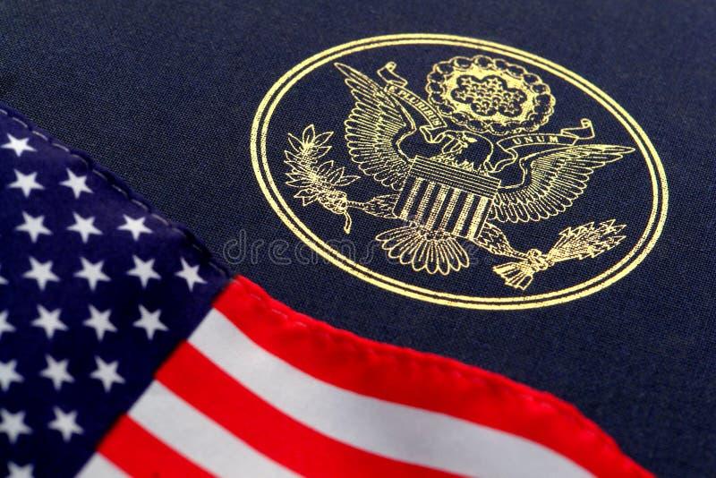 Gran sello de los Estados Unidos y del indicador americano fotos de archivo