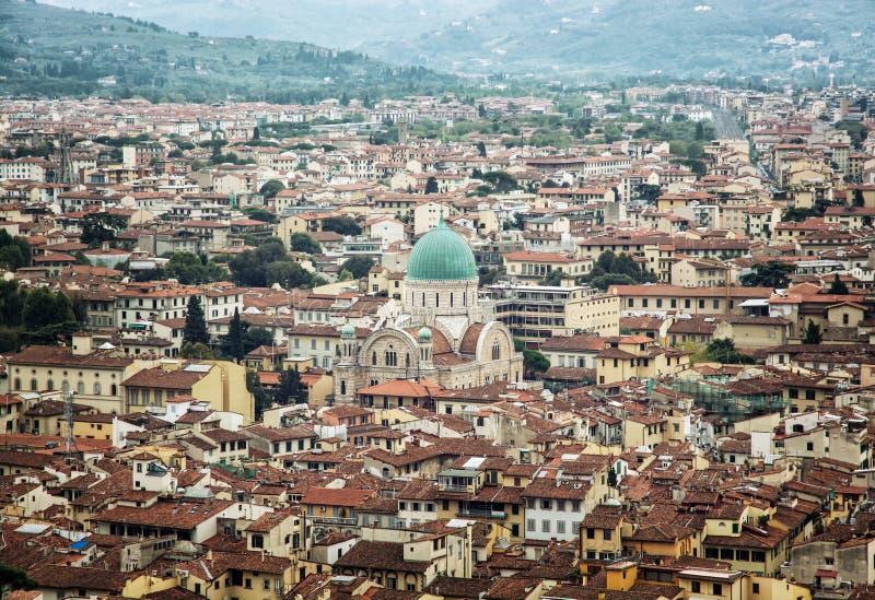 Gran sinagoga de Florencia, Italia, patrimonio cultural imagenes de archivo