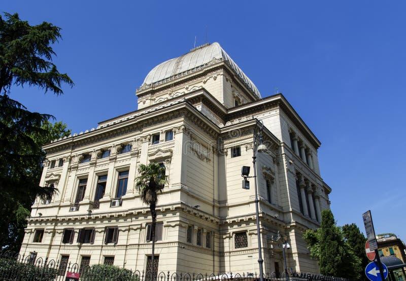 Gran sinagoga de Roma fotos de archivo libres de regalías