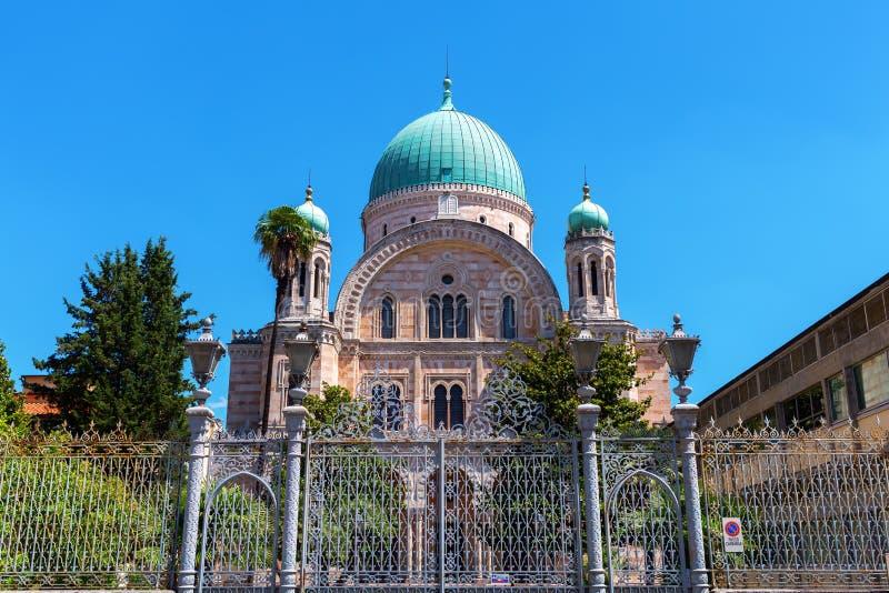 Gran sinagoga en Florencia, Italia foto de archivo libre de regalías