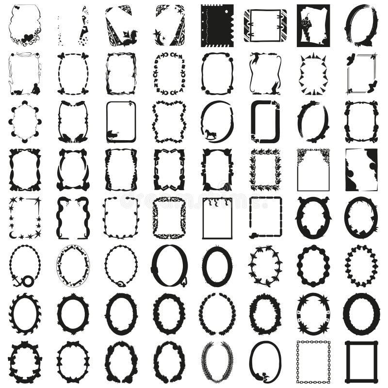 Gran sistema de bastidores Vector hermoso imágenes de archivo libres de regalías