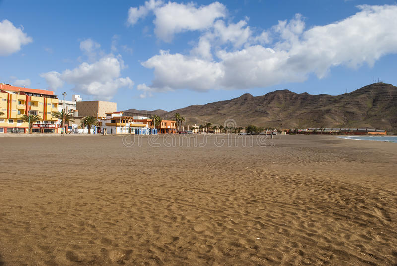 Gran Tarajal - Fuerteventura stock afbeelding